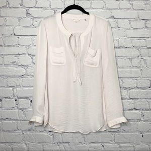 Rebecca Taylor Blush Pink Long Sleeve Blouse 2